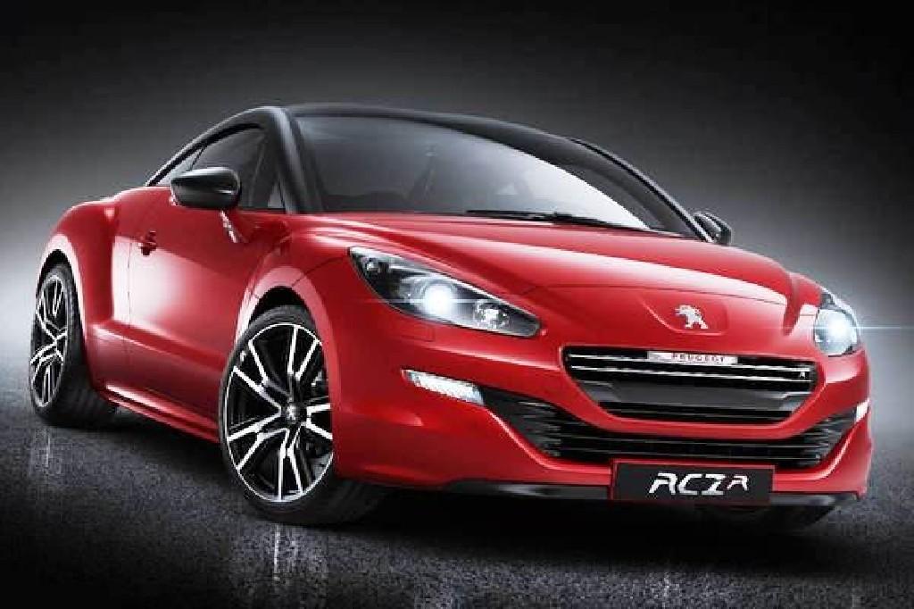 Peugeot RCZ modellen vaartland